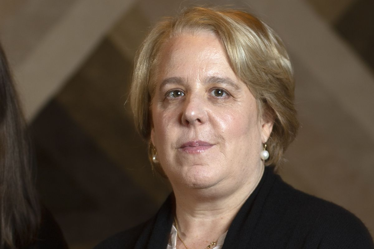 Roberta Kaplan on Nov. 12, 2019. The Time's Up leader resigned Monday, Aug. 9, 2021 over fallout from her work advising Gov. Andrew Cuomo's administration when he was first hit with sexual harassment allegations last year.
