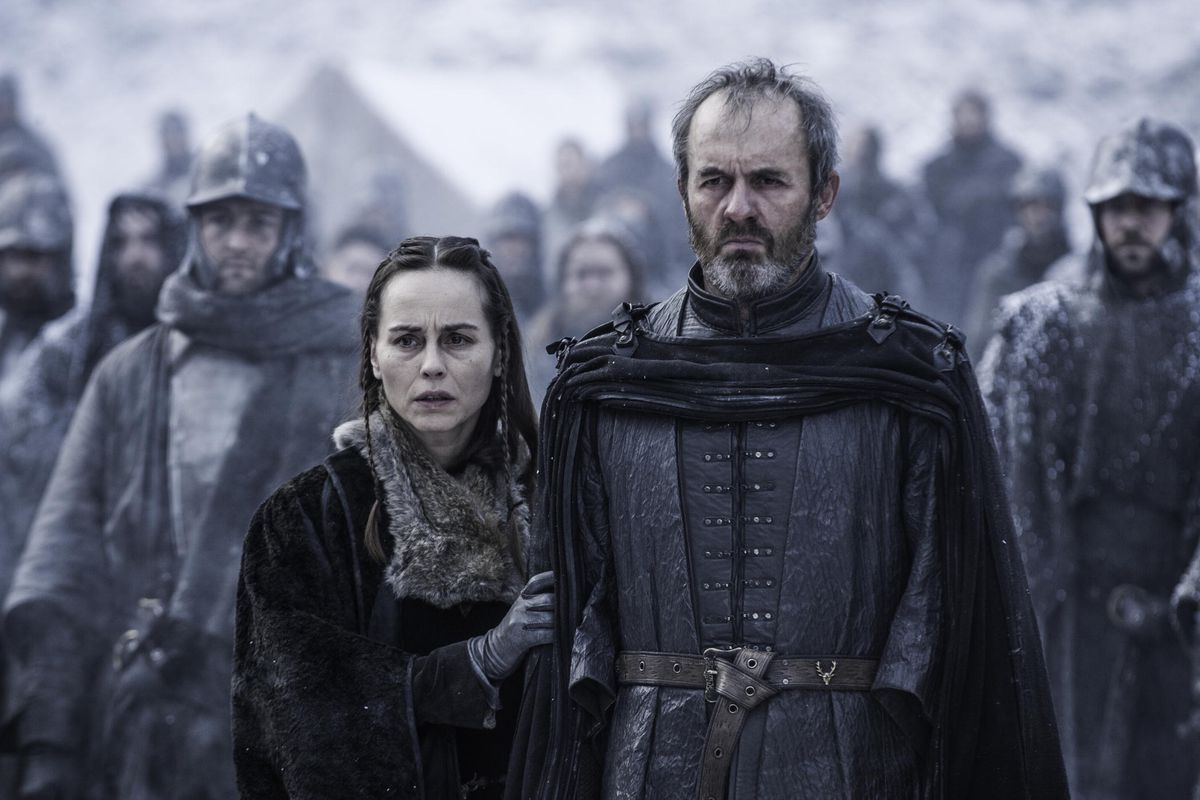 Selyse and Stannis will never be the same now that they've sacrificed their daughter to the Lord of Light.