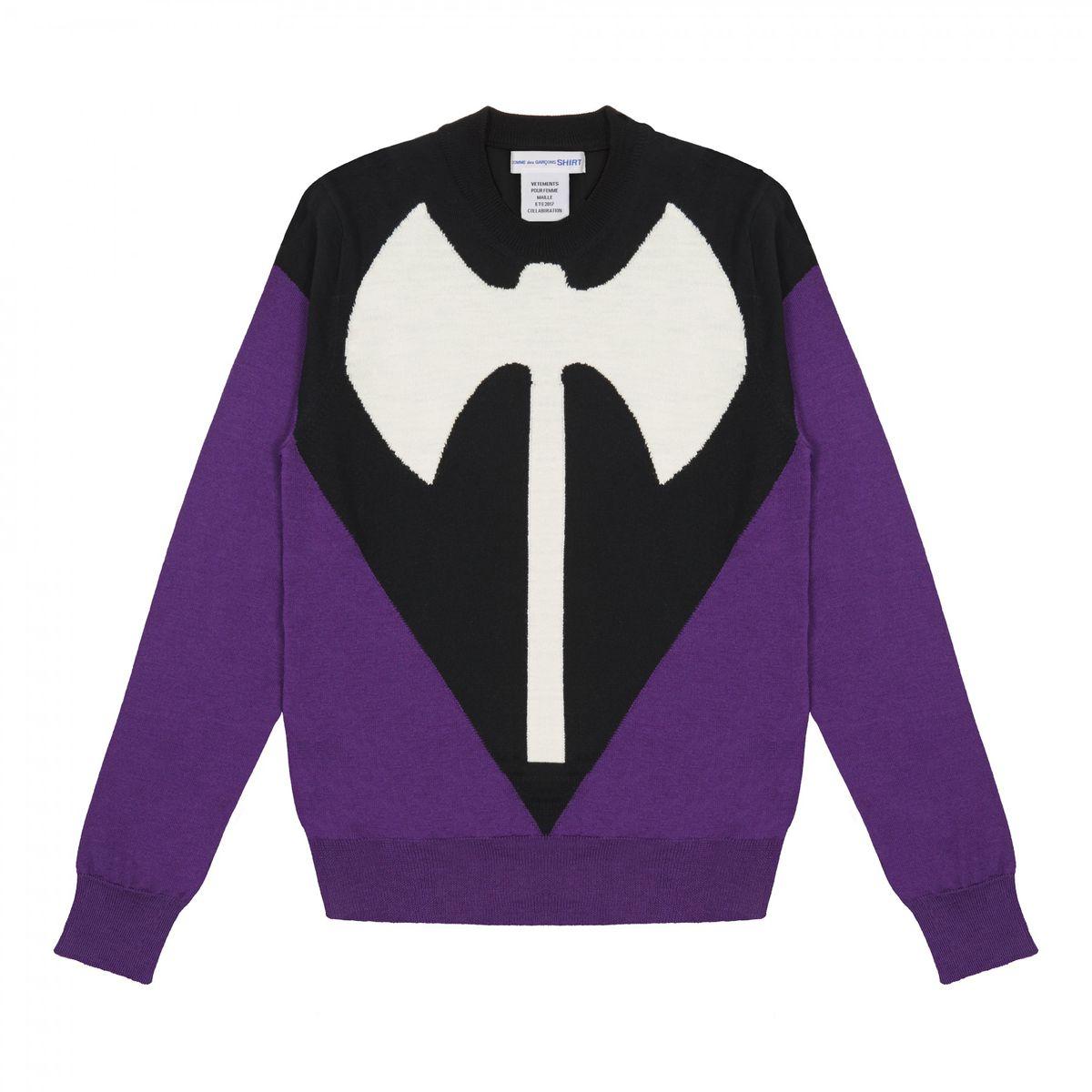 """Purple """"lesbian"""" axe sweater"""