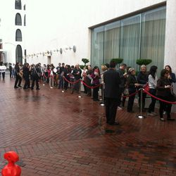 The line at 8:15am