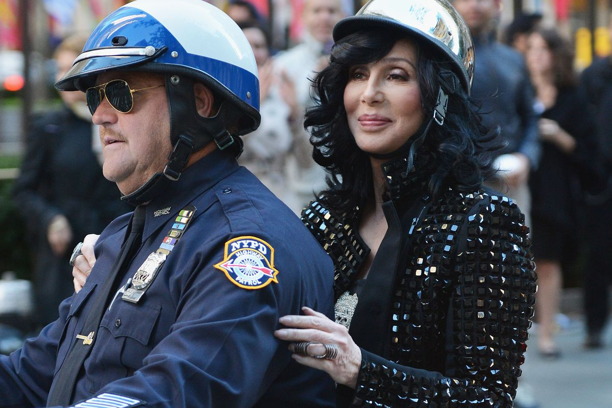 NEW YORK, NY - SEPTEMBER 23:  Singer Cher arrives to NBC's 'Today' at NBC's TODAY Show on September 23, 2013 in New York City.  (Photo by Slaven Vlasic/Getty Images)