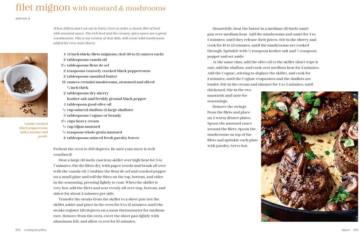 Ina Garten's filet mignon recipe