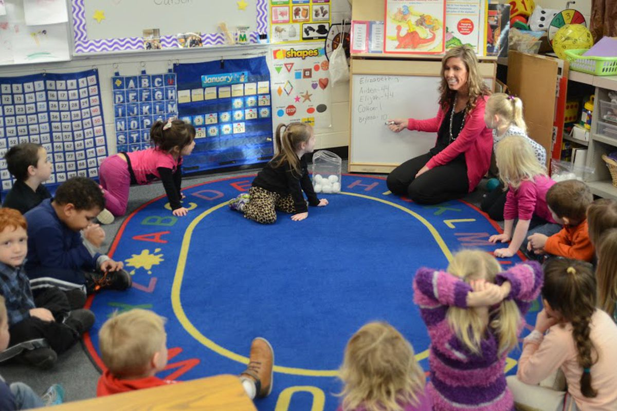 Children in a Great Start Readiness Program Classroom, which would see a funding increase under  Gov. Gretchen Whitmer's proposed budget.