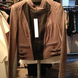 Fall 2013 Leather Jacket worn by Julia Roberts, $500