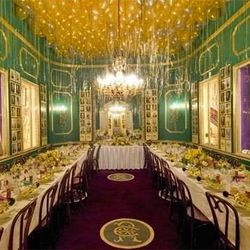 The Rex Room at Antoine's, named after the super krewe of Carnival, and just as over the top