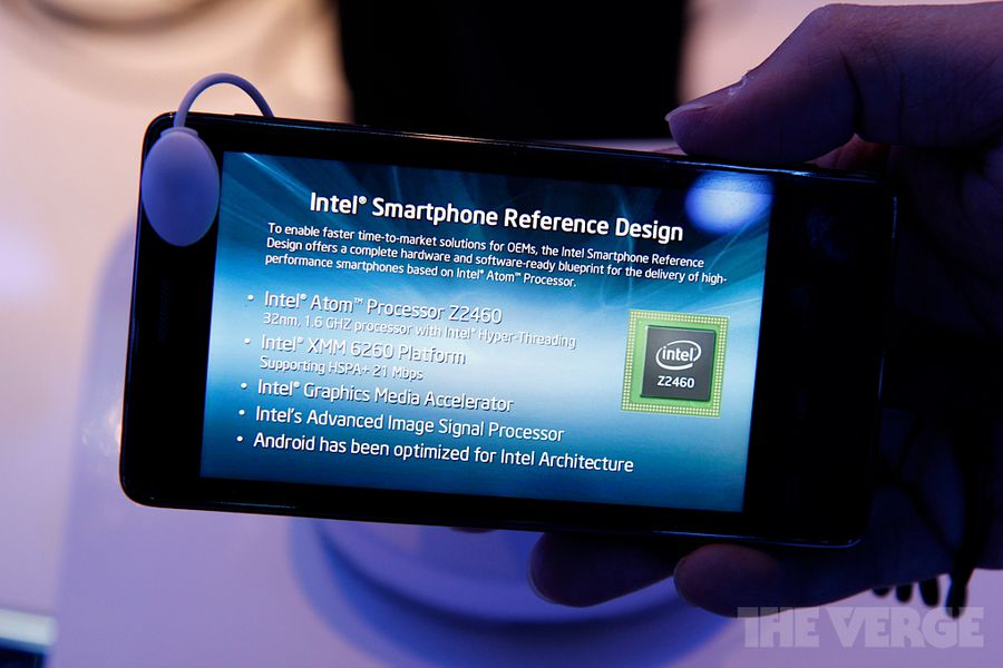 Intel's Medfield reference design smartphone first hands ...