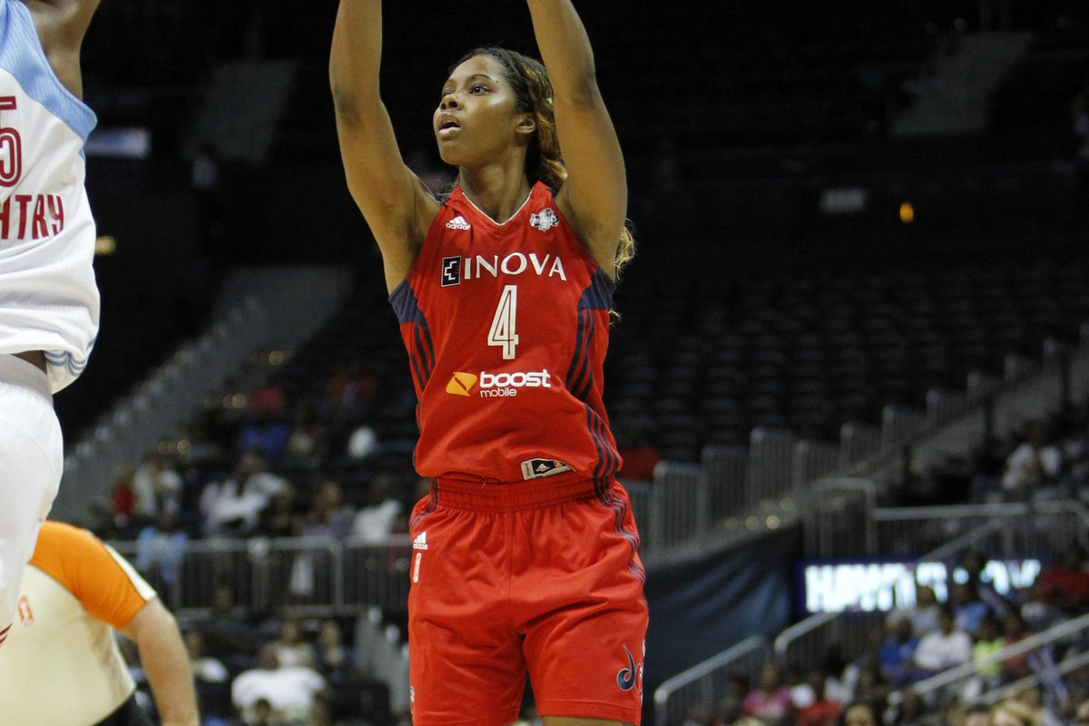 Tayler Hill didn't start and didn't shoot well, but she still played significant time to help DC win Game 1 of the Eastern Conference Semifinals.