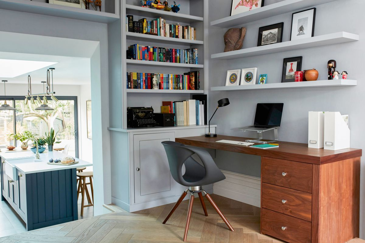 Small Home Office, Floating Shelves, Wall Mounted Shelves