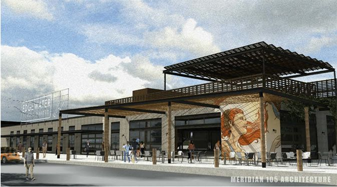 A rendering of the planned Edgewater Public Market