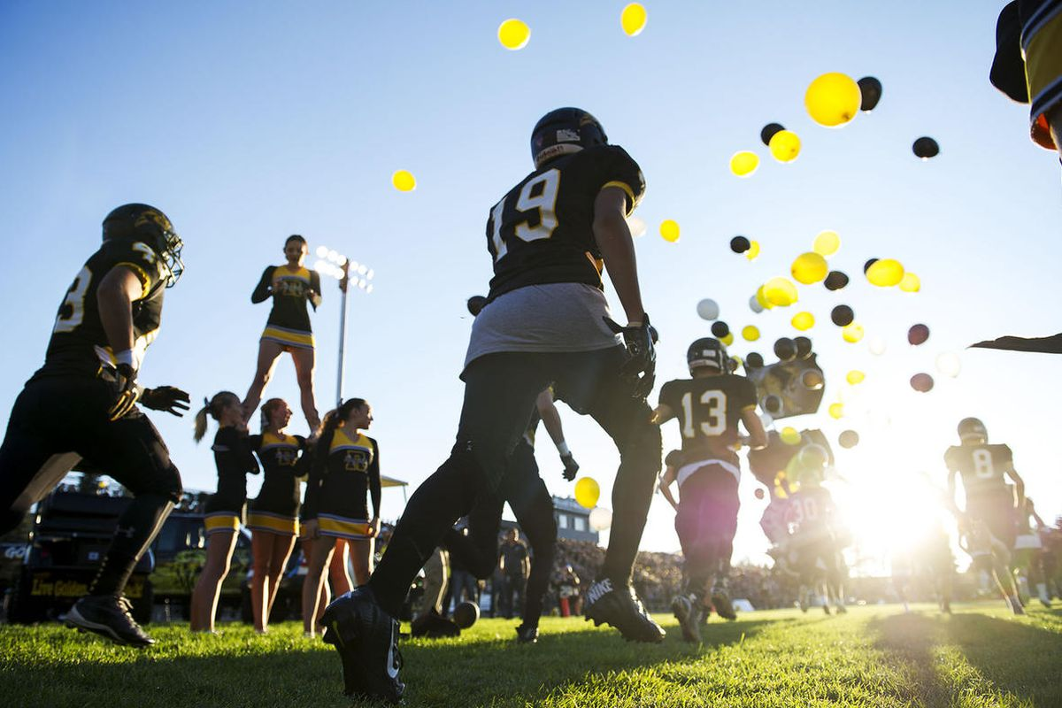 FILE: The Roy Royals football team takes the field before a UHSAA football game against Fremont in Roy on Friday, Sept. 16, 2016.
