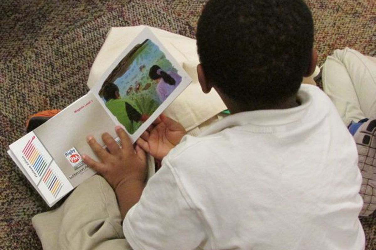 A preschooler in the Reggio program at IPS School 60.