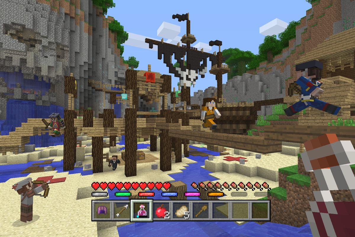 Minecraft Console Edition Battle mini game