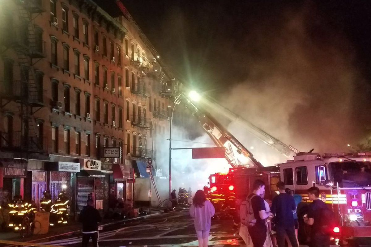 Fire Located On First Avenue In East Village Photo Via Fdny