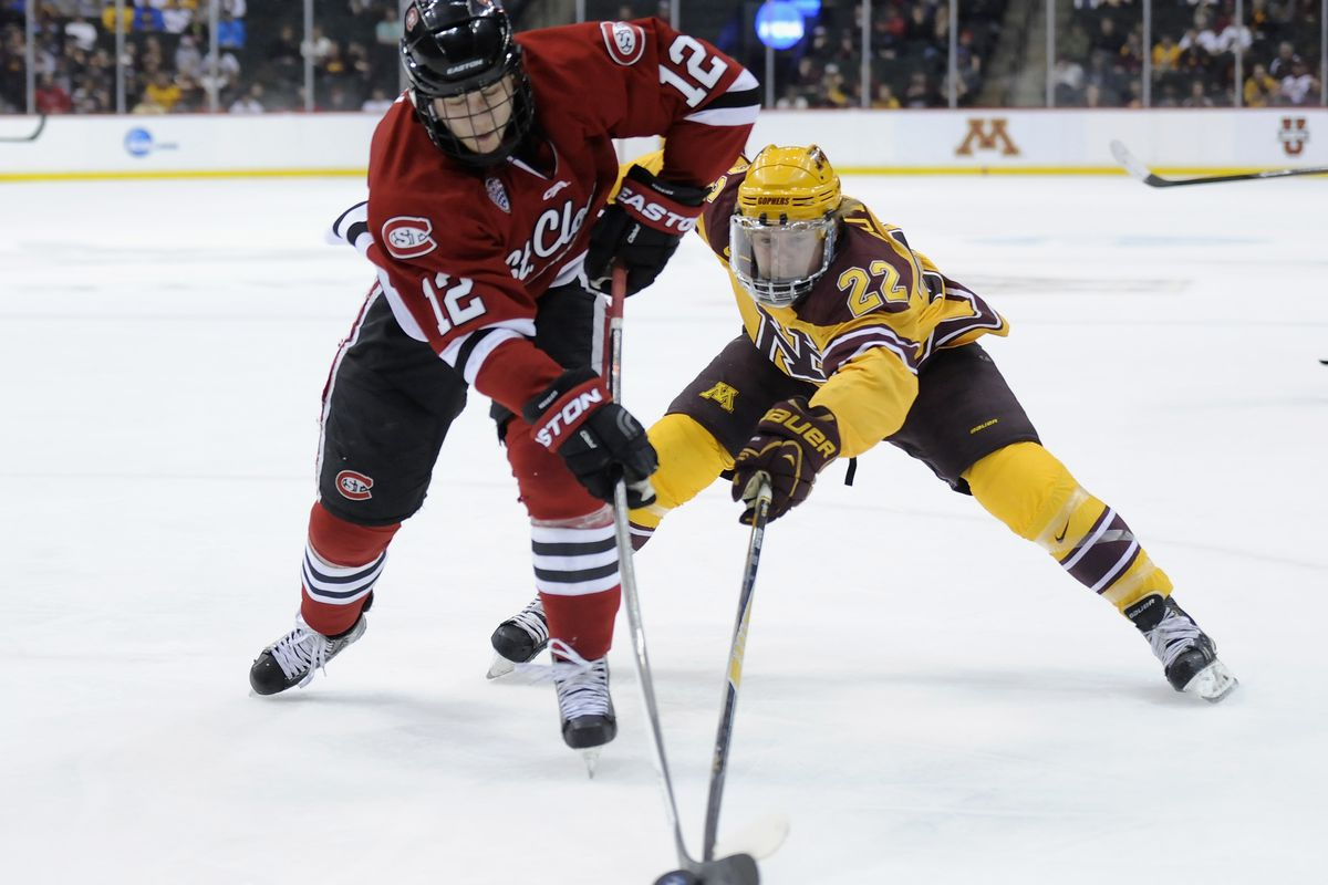 Travis Boyd (22) scored a career-high 4 points and did the little things Saturday in Minnesota's 6-2 win over Ohio State