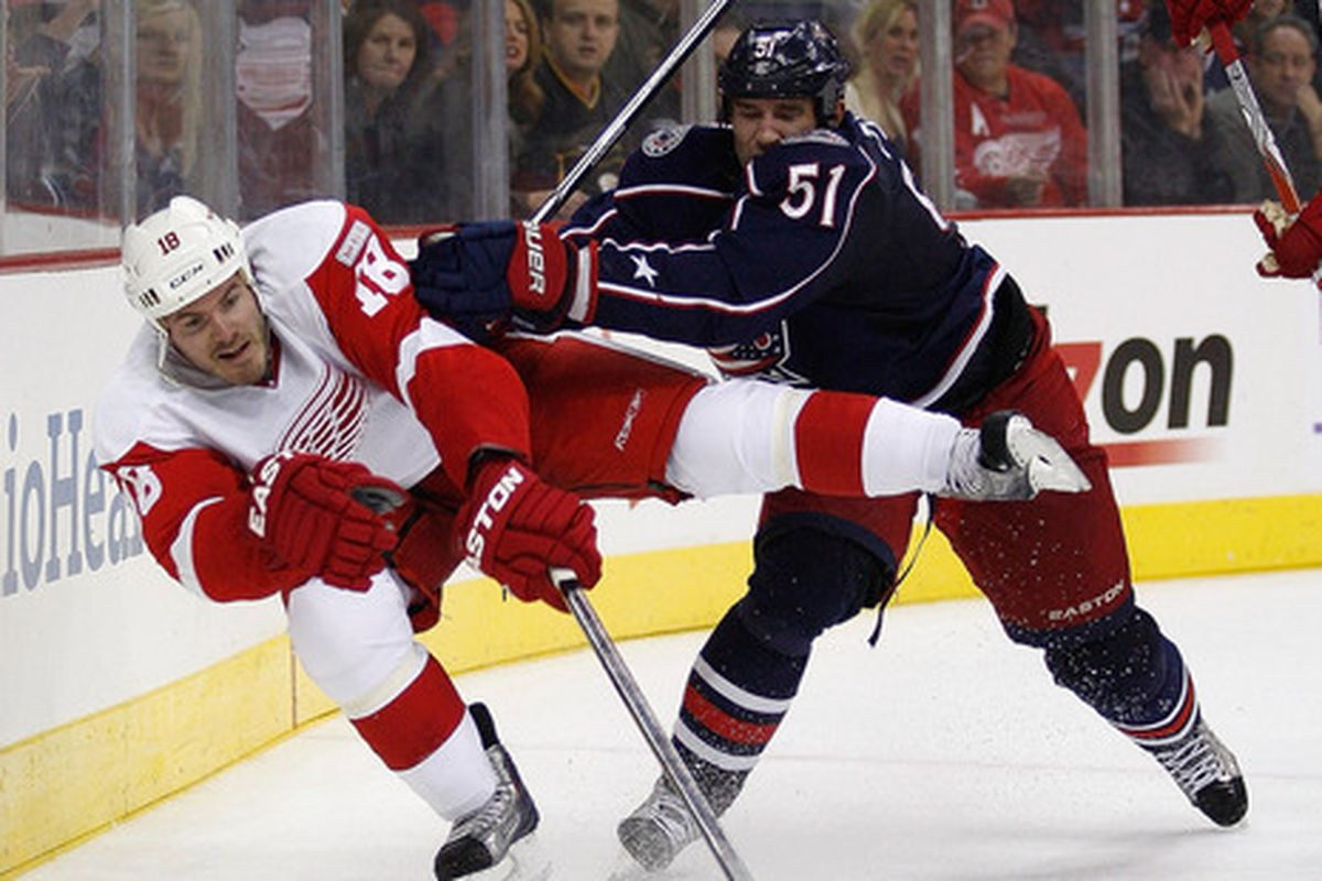 Yup... we might be at the point where the freakin' Blue Jackets are pushing the Wings around.