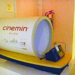 The Cinemin Slice is a tiny little projector that also plugs into your smart-phone. $429.99.