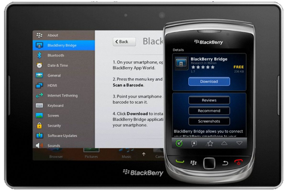 BlackBerry Bridge finally arrives for AT&T customers - The Verge