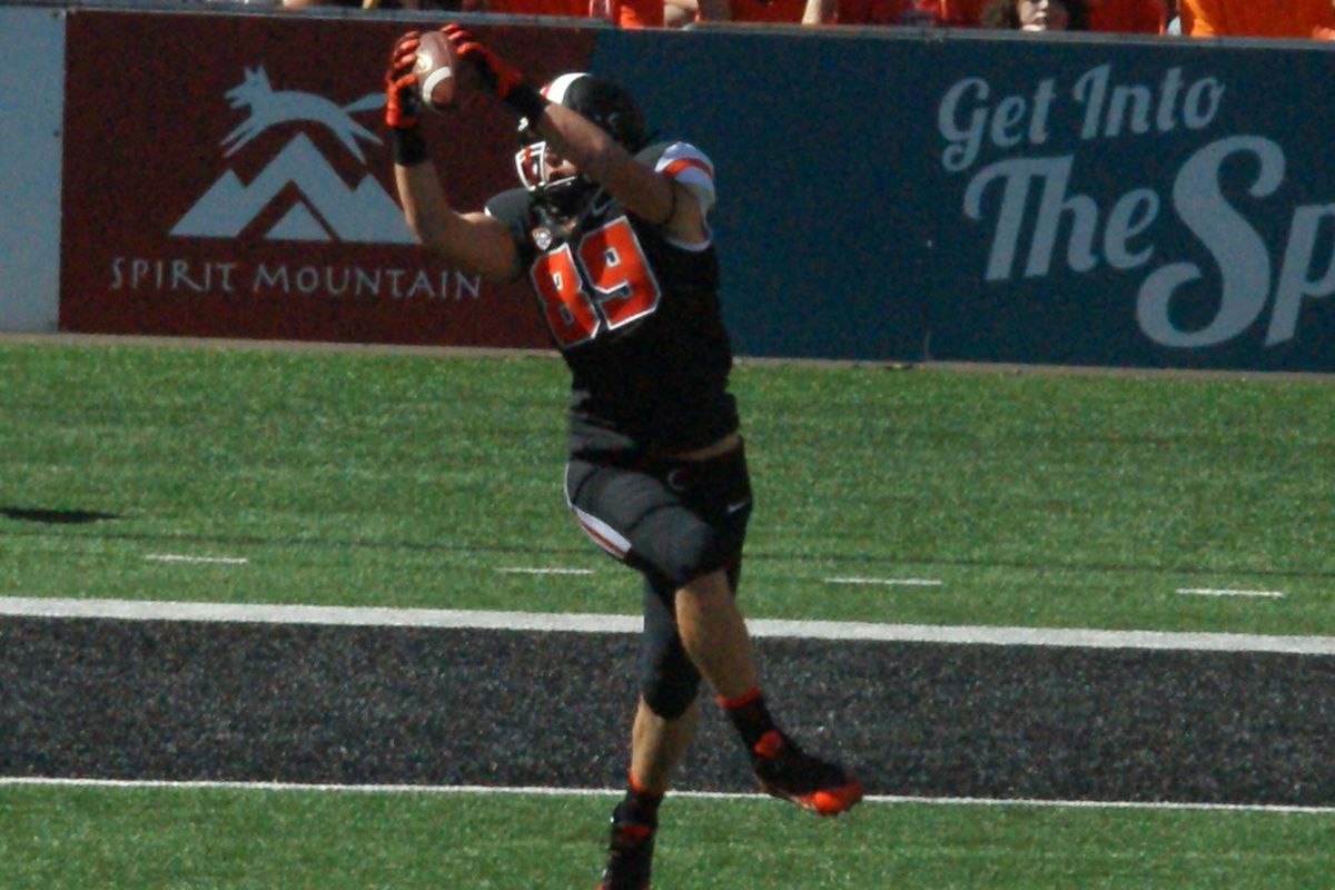 Oregon St. will have Connor Hamlett back in action this week against Washington St., after the Beaver TE rested his knee during the Beavers' bye week.