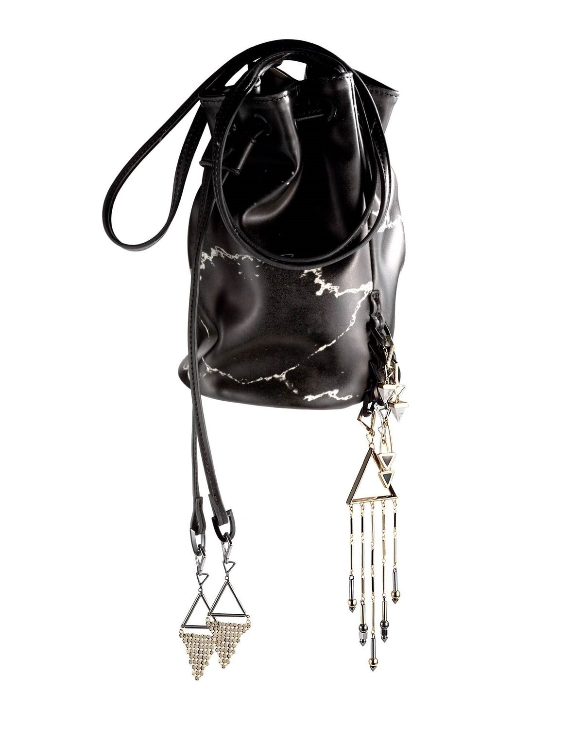 Mini Bucket Bag ($35) with assorted charms ($8 to $13). Photo: Vogue