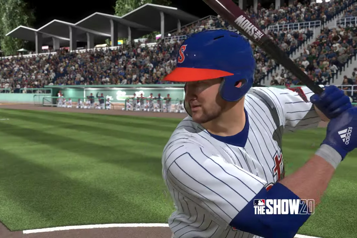 Mets minor leaguer Tim Tebow comes to the plate in MLB The Show 20