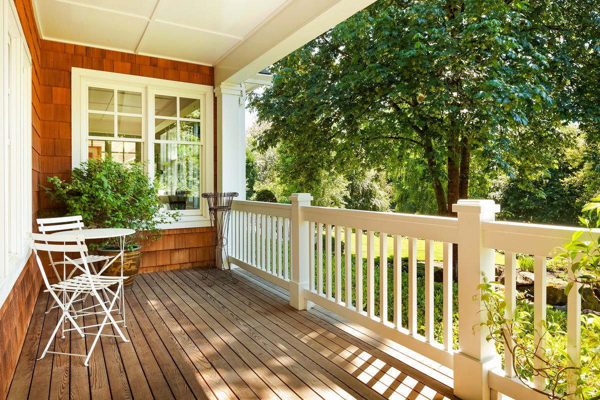 Front porch of home.