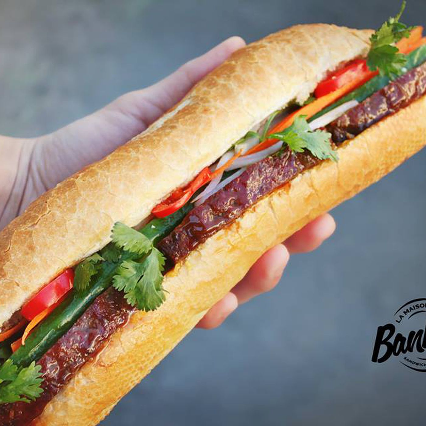 La maison de banh mi makes vietnamese sandwiches in the village
