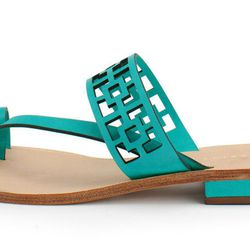"""Trina Turk """"Brentwood"""" Sandal, <a href=""""http://www.shoptiques.com/products/blue-brentwood-sandal"""">$198</a> at Bishop Boutique"""