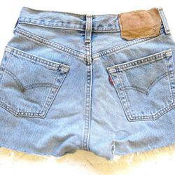 Levi's cutoff jean shorts