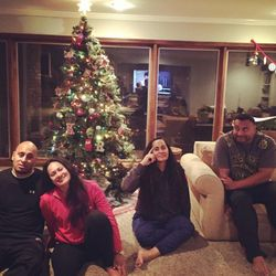 ... and then as adults decades later, TJ, Pamrose, Toa, and Kalani reconstructed their childhood Christmas photo (see above).