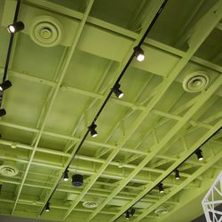 KFC eleven's commitment to avocados extends to the ceiling.