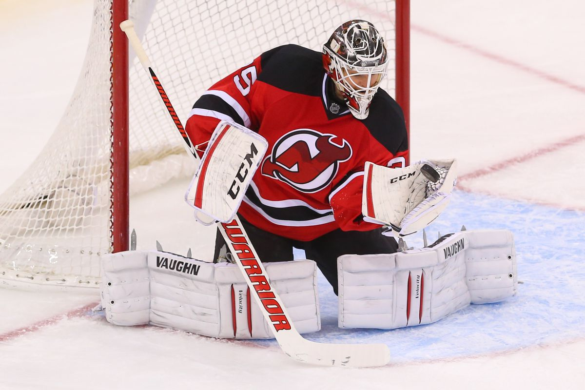 Cory Schneider with one of his 261 saves in January. This was an easy one.