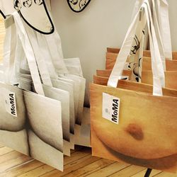 If you were at The MoMA Store in Soho to see the threeASFOUR performance, you could also buy butt and boob totes by Yoko Ono.