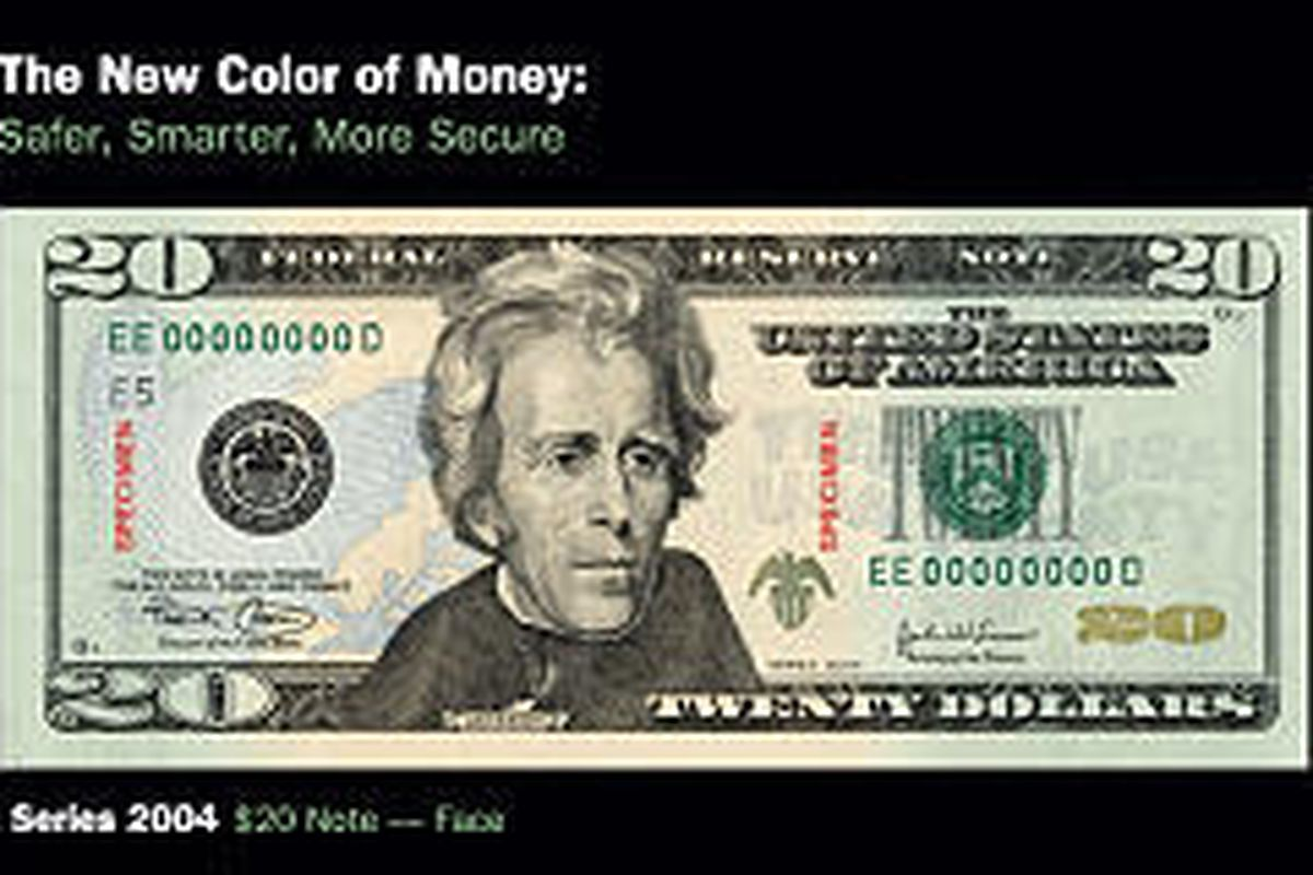 The new colorized version of $20 bills is expected to comprise about half of all $20s in circulation within 18 months.