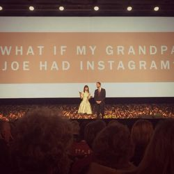Josh and Naomi Davis open their keynote address at RootsTech.