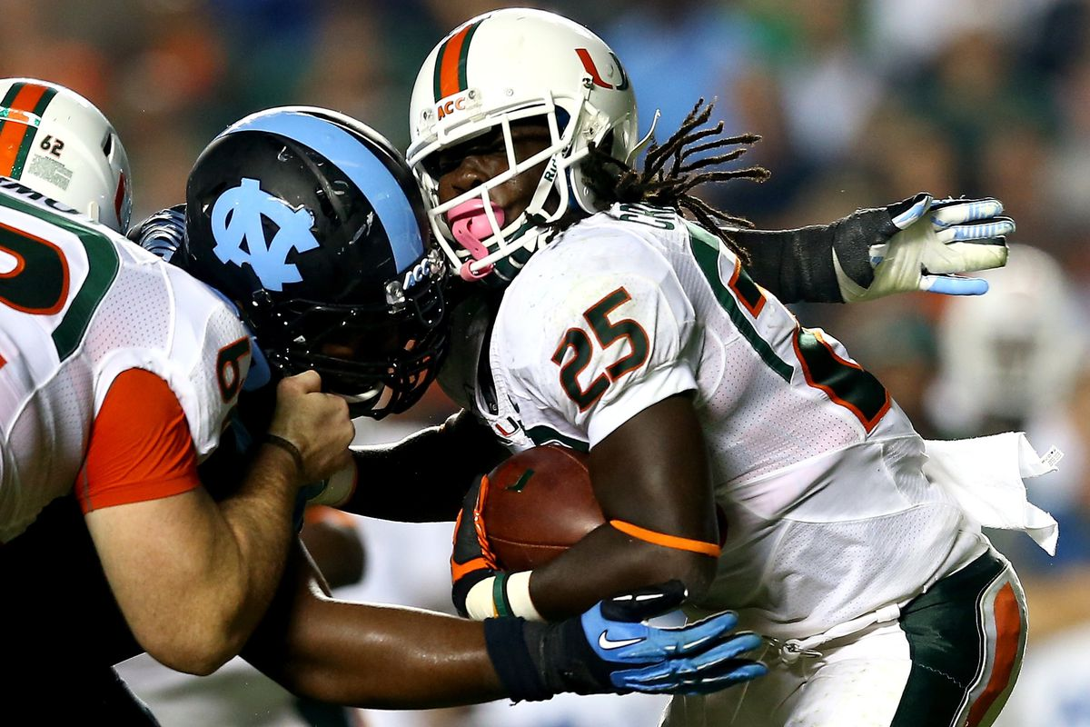 Miami Vs Unc 2013 Final Score Hurricanes Stave Off Upset Win 27