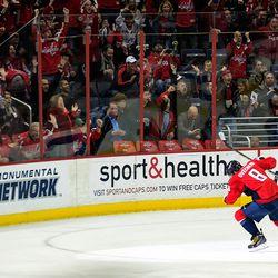 Ovechkin Celerbates Second Power Play Goal