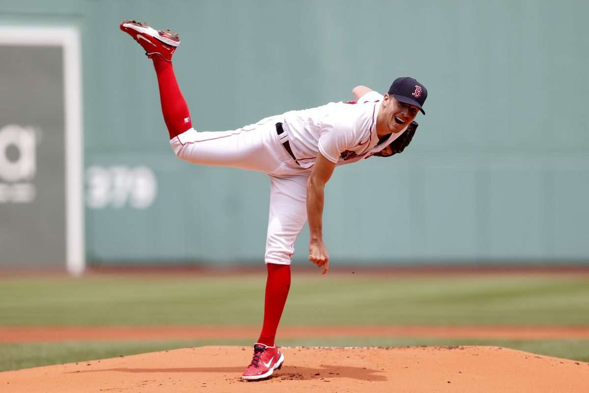 Starting pitcher Nick Pivetta #37 of the Boston Red Sox throws against the Philadelphia Phillies during the first inning at Fenway Park on July 11, 2021 in Boston, Massachusetts.