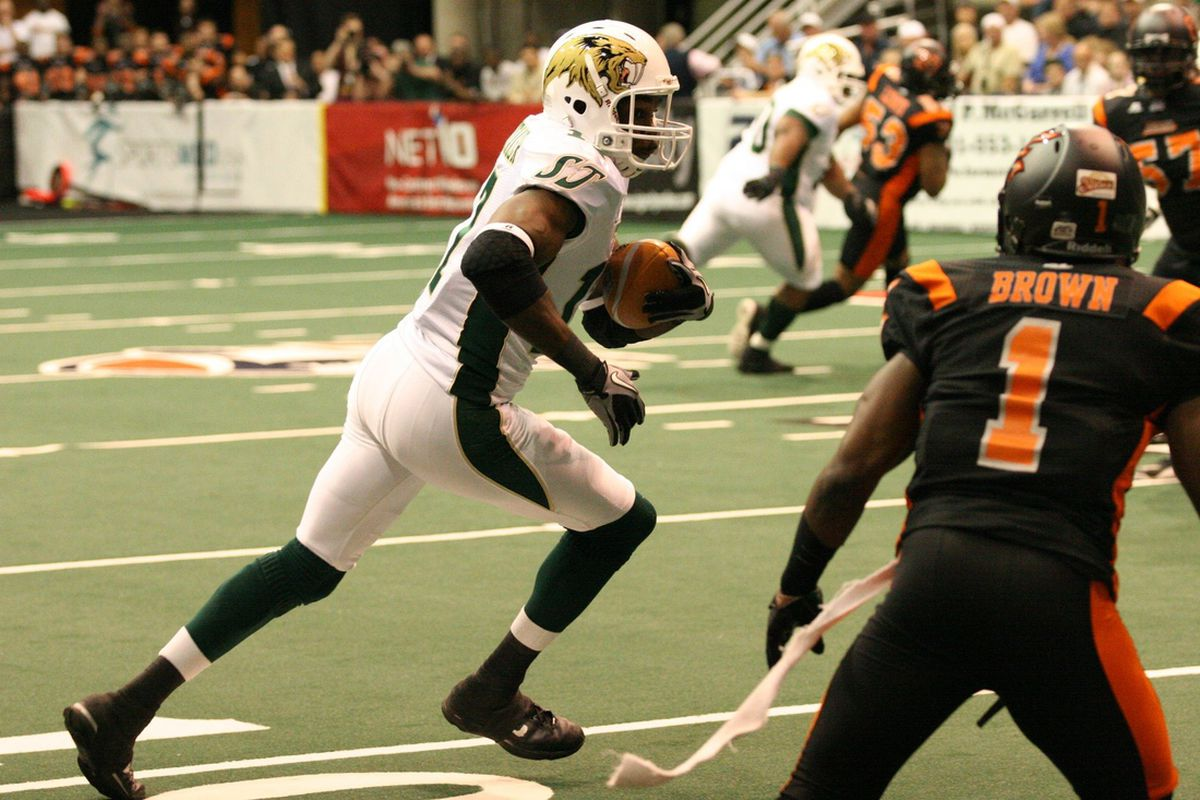 SaberCats vs. Blaze on March 24th, 2012. Credit to the San Jose SaberCats on Facebook.