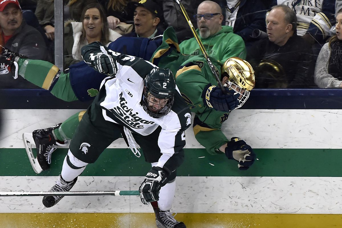 COLLEGE HOCKEY: FEB 24 Michigan State at Notre Dame
