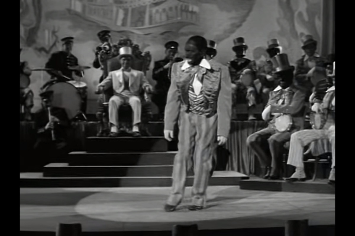 A scene from the blackface minstrel show yes sir mr bones