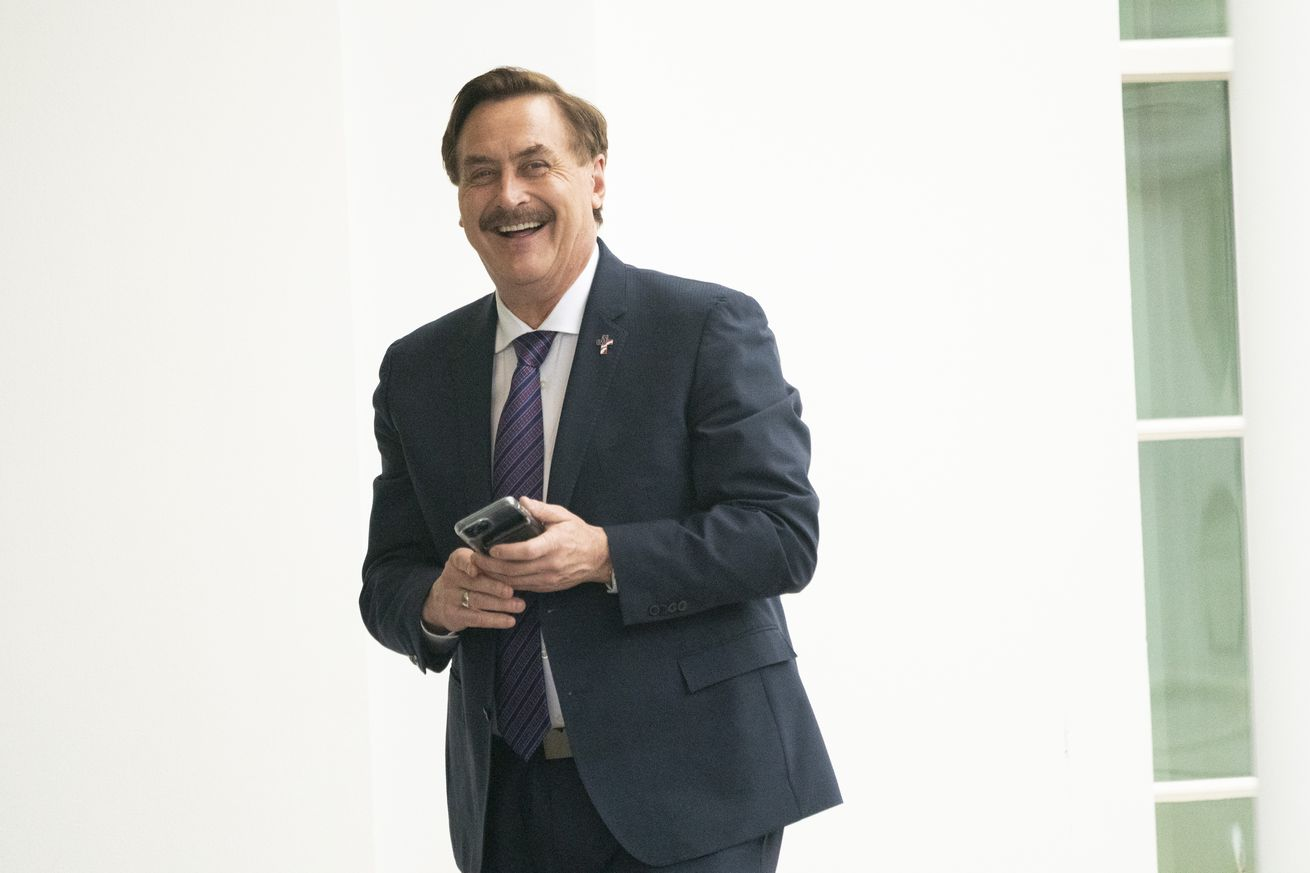MyPillow and FrankSpeech founder Mike Lindell, seen outside the White House during the final weeks of the Trump administration.