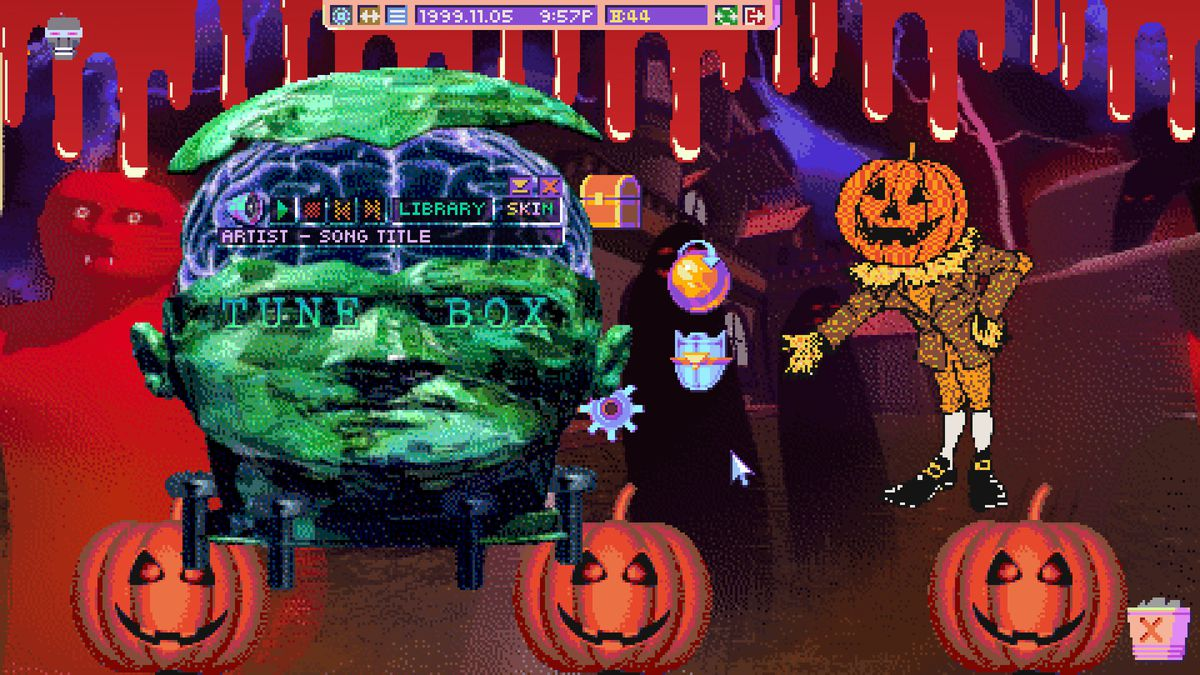 Hypnospace Outlaw - Halloween website