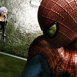 """In this video game image released by Activision Inc., Spider-Man and Felicia Hardy are shown in a scene is shown from """"The Amazing Spider-Man."""""""