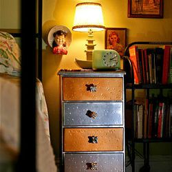 Brina Tignor created this nightstand from an item she reclaimed from a neighbor's bulk trash pile in East Dallas, Texas.
