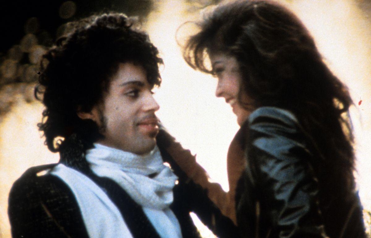 Prince in the movie Purple Rain.