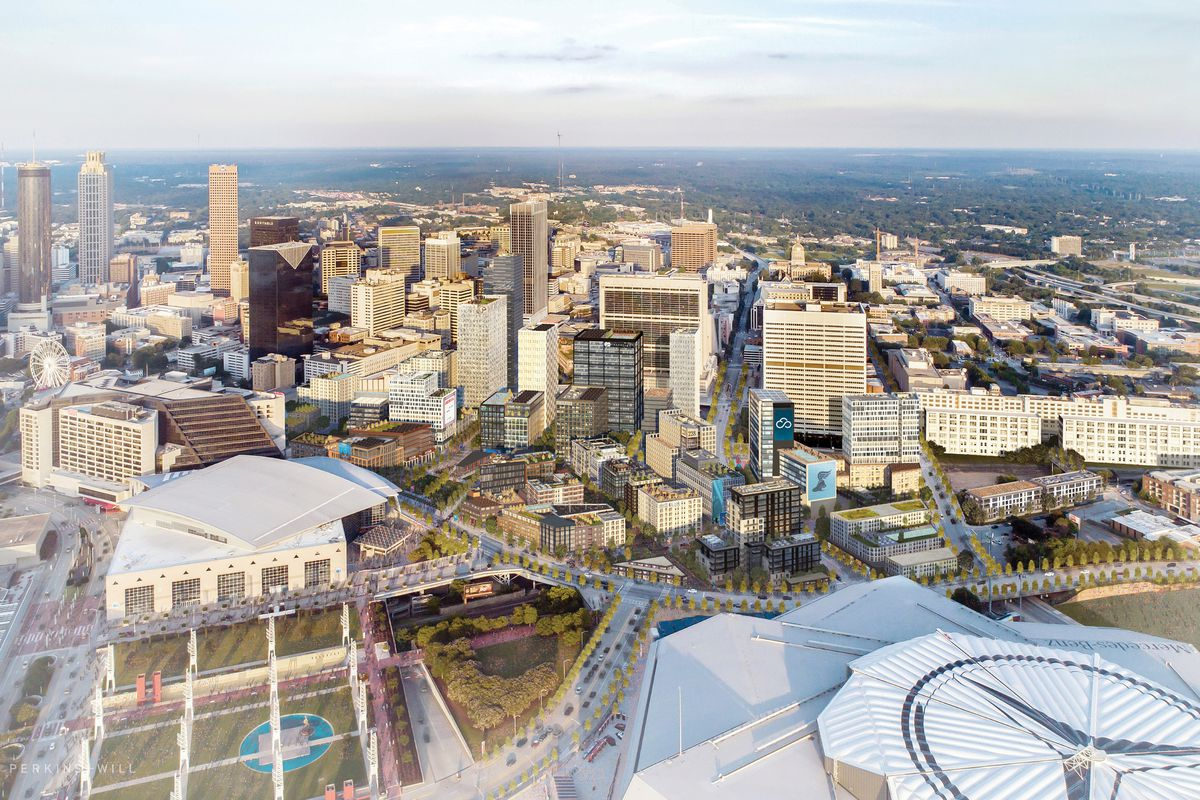The overarching Gulch vision, complete with new construction aplenty.
