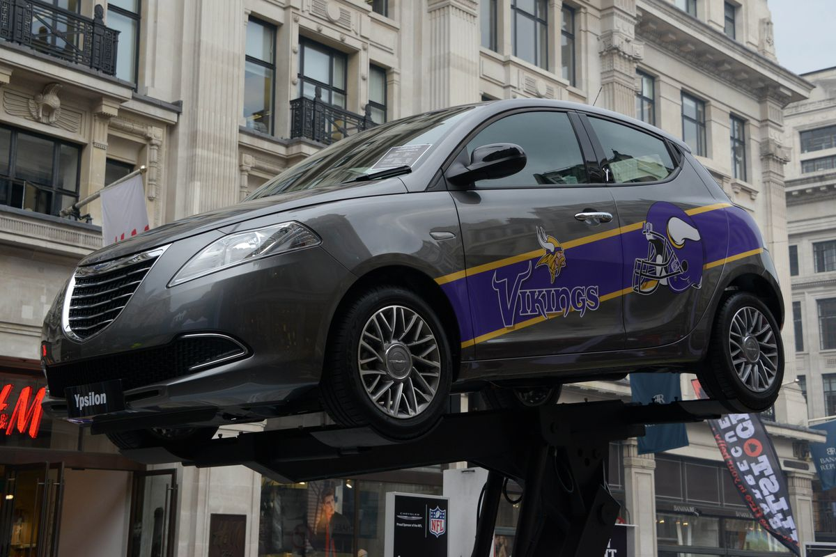 Here's a picture of a car with Vikings branding, because I sure as hell wasn't going to lead with a picture of that ankle.