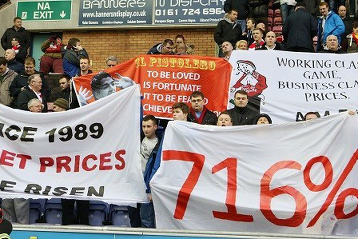 Ticket prices have increased dramatically up and down the country