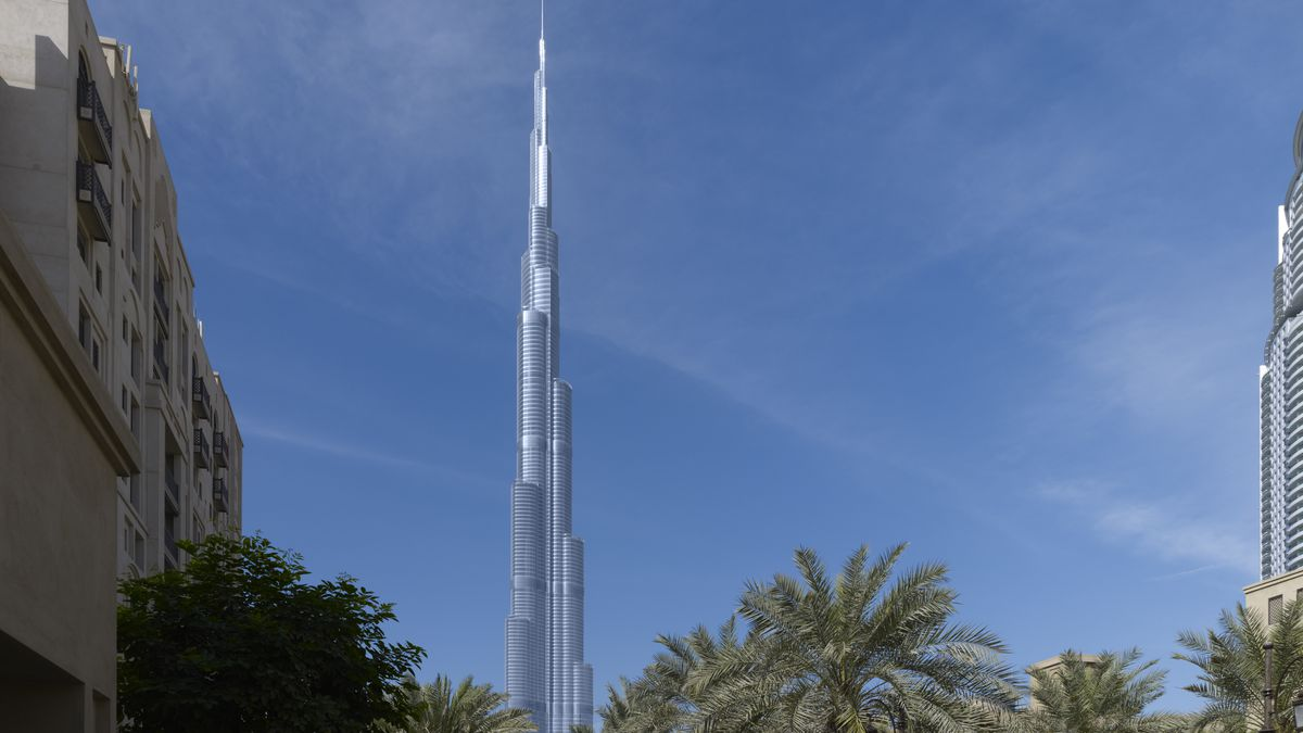 The Burj Khalifa in Duabi, designed by Adrian Smith when he was Design Partner at SOM