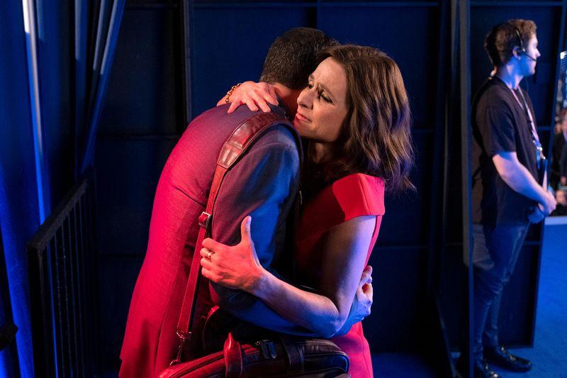 Tony Hale and Julia Louis-Dreyfuss in Veep.